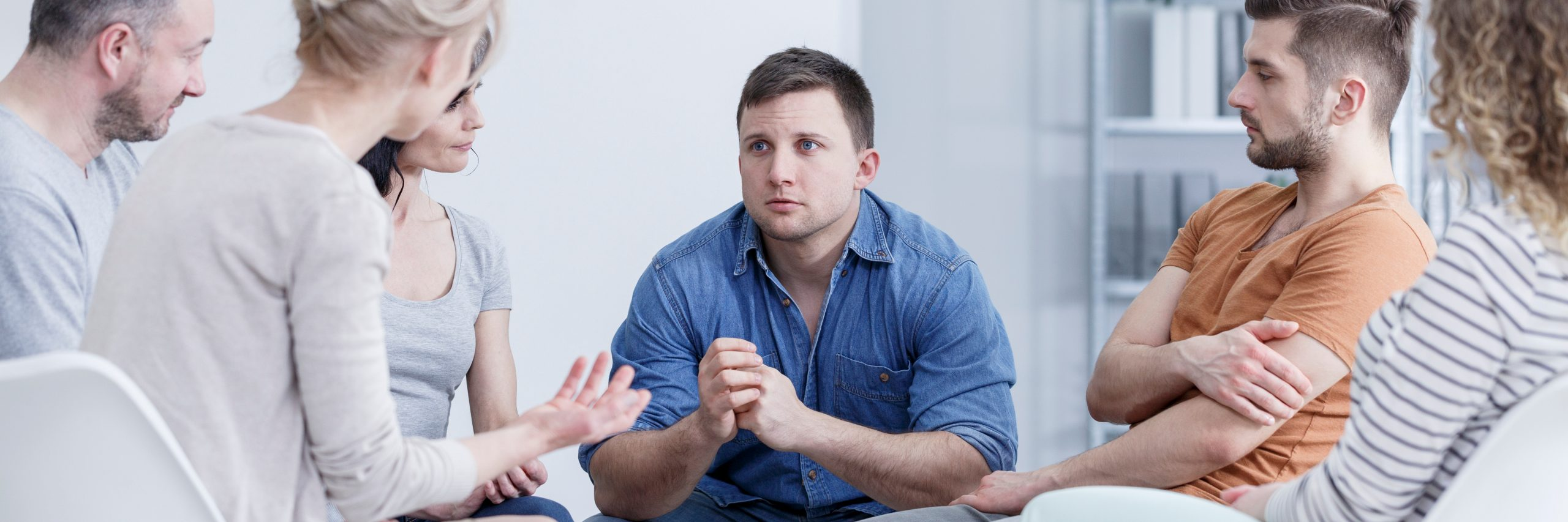 Support,Group,Helping,Worried,Man,With,Overweight,During,Psychotherapy